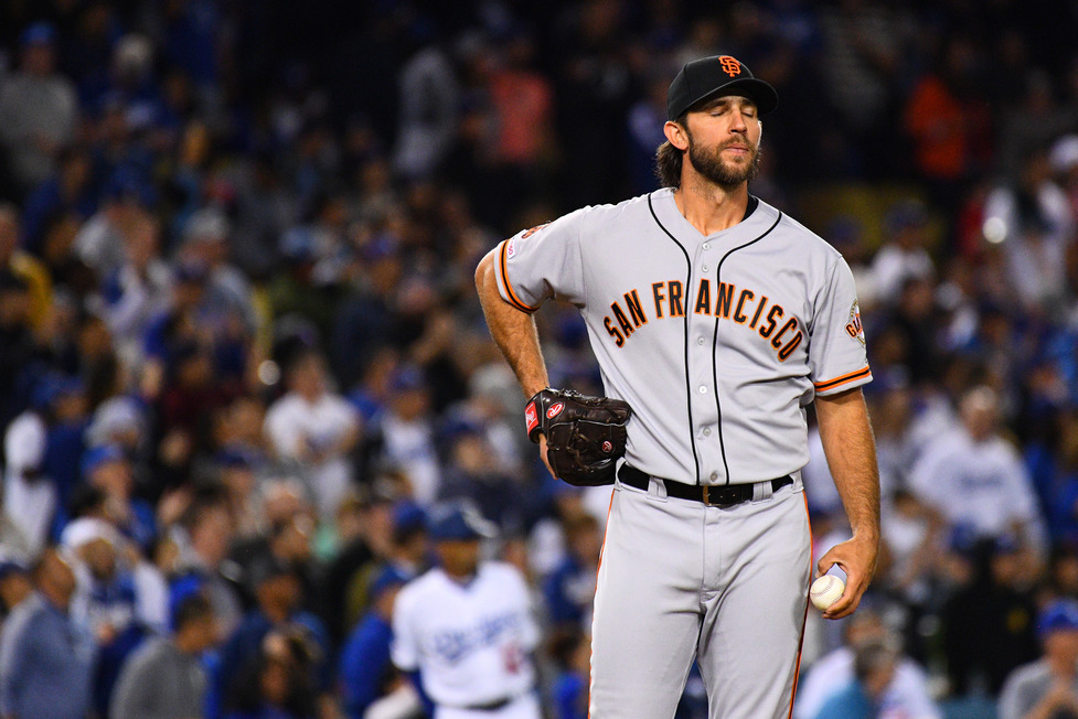 Dodgers Hitting Home sai de Madison Bumgarner por 3 minutos 1
